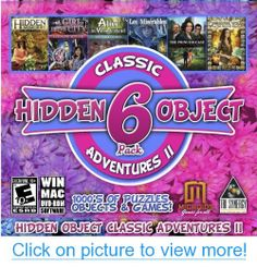 Hidden Object Classic Adventures II - 6 Game Pack Hidden Object Games, Hidden Objects, Mac Games, Games Box, Video Game Names, Video Games, Nes Classic, Video Game Collection, Vhs To Dvd