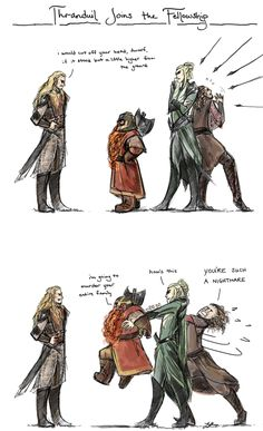 Thranduil Joins the Fellowship, Hijinks Ensue by frecklesordirt