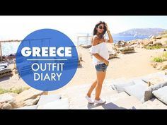 Today's video is my Outfit Diary + Vlog from the windy island of Mykonos. OUTFIT DETAILS (more pi Honeymoon Attire, Greece Honeymoon, Greece Outfit, Travel Style, Travel Fashion, Mykonos, More Pictures, My Outfit, Travel Guide