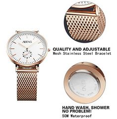 Men's Wrist Watch Analog Quartz with Rosegold Steel Mens Watches Online, Watches For Men, Stainless Steel Bracelet, Plating, Quartz, Mesh, Rose Gold, Shopping, Accessories