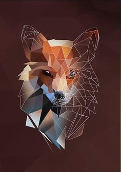 Geometric art fox low poly 42 Ideas for 2019 Sketch Head, Fox Sketch, Art And Illustration, Illustrations Posters, Animal Drawings, Art Drawings, Abstract Drawings, Art Fox, Geometric Fox
