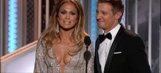 Jennifer Lopez with Jeremy Renner at the 72nd Annual Golden Globe Awards, January 2015