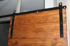 Reclaimed Oregon Pine barn door and hardware - Long street Cape Town