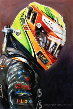 kevinpaigeart.com presents, Sergio Perez: 2014 Force India #F1 Pilot