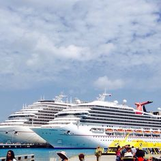 Carnival Magic and Carnival Triumph docked in Cozumel, Mexico. Picture found on shipmate. ================================= #Carnival #CarnivalMagic #CarnivalTriumph #docked #cruiseships #Cozumel #CozumelMexico #Mexico =================================