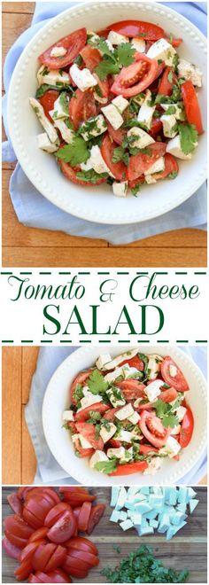 Tomato Mozzarella and Cilantro Salad. ValentinasCorner.com