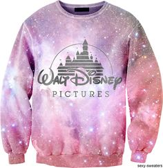 Without the Walt Disney logo this jumper would be awesome. ♥ #fashion #galaxy #sweater //  uhhh the Disney logo makes it better