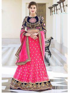 Majesty Pink Faux Georgette Wedding Lehnga Choli   http://www.designersareesuite.com/catalog/product/view/id/21424/s/majesty-pink-faux-georgette-wedding-lehnga-choli/category/54/#