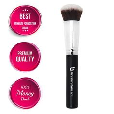 $11.97 Amazon.com : Best Foundation Brush Flat Top Kabuki: Blends Liquids, Creams + Powders for an Airbrushed Finish! 100% Money Back Guarantee; Synthetic Dense Bristles That Do Not Shed, Recommended by Top Makeup Artists Even for Beginners, Makes Great Gifts! : Makeup Brush Sets : Beauty