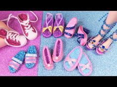 7 DIY Miniature Barbie Shoes, Sneakers and high heels and more. 바비 인형 미니어쳐 신발 스니커즈 만들기 - YouTube