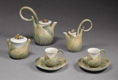 Coffee service, 1900–1904  Designer: Léon Kann (French, active 1896–ca. 1915; active at Sèvres 1896–98, 1900–1908); Sèvres Manufactory (French, 1740–present)  Hard-paste porcelain