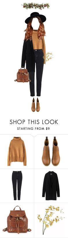 """30 ♡"" by cutefatboy ❤ liked on Polyvore featuring Topshop, Reed Krakoff, The Bridge, Pier 1 Imports, Nearly Natural, indie, brown and autumn"