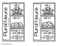 Plural Nouns Graphic Organizers, Anchor Chart Signs