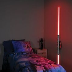 sith lightsaber night light -- I bet you could convert some toy light sabers and make your own version of this... In any color you could find....