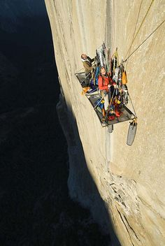 For crying out loud, what is wrong with these people? Pacific Ocean Wall, El Cap, Yosemite.