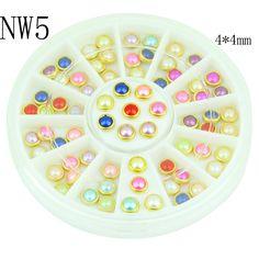 2015 Colorful Acrylic Nail Glitter Wheel Glitter Gold Plated Nail Art Jewelry Women Fingernail Decoration Supply