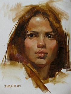 """Head Study 102611"" - Original Fine Art for Sale - © Qiang Huang"