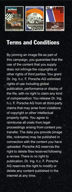 Terms and Conditions - ouch! Could these be any more one-sided?