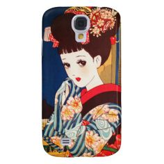 Cool japanese Nakahara tender manga lady geisha Galaxy S4 Cover