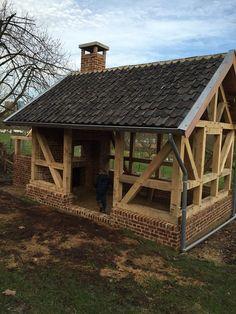 'vakwerk' bakhuis in aanbouw | hoogstamfruitboomgaard 'De Loorenhof', Welten, Heerlen