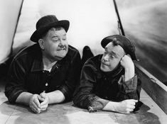 Oliver Hardy and Stan Laurel.