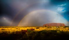 Uluru Rainbow      This is a relatively rare site as it does not rain much in the outback. A few years ago they ended a 9 year period during which they had 0 inches of rain. The 9 year old children had never seen rain until then. The past 2 years thay have had more rain and this makes the camels harder to catch as they use water for bait (there are estimated to be 1 million feral camels in the outback and countries such as Morocco have placed orders for them as they are clean and free of…