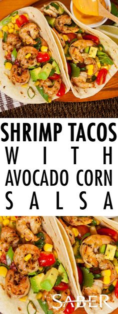 Celebrate Taco Tuesday with grilled shrimp tacos with avocado corn salsa. These grilled tacos incorporate refreshing flavors with family dinner traditions.