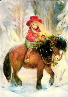 Lisi Martin- little girl on horse