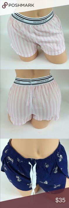 Victoria's Secret Pajama Shorts Cute , fun pajama shorts from VS , both size Extra Small Victoria's Secret Intimates & Sleepwear Pajamas