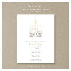 twinkle little star : baby shower invitation set. $16.00, via Etsy.