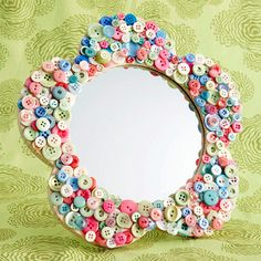 Button mirror craft for kids