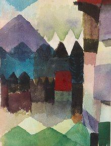 Paul Klee, Föhn im Marc'schen Garten, 1915