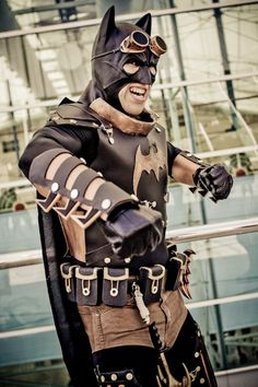 as if batman didn't look strange enough we have ta-ta...the Steampunk Batman