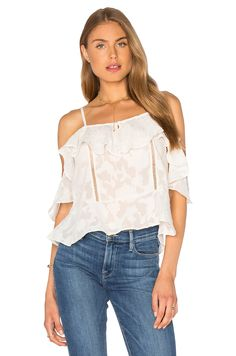 Lucy Paris Burnout Top in White