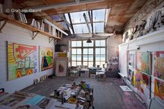 . A beautiful art studio AND a view of the ocean.  Put a bed at one end, and I'm good to go