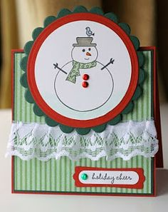 "another tent topper card.. ""Snowman"" Holiday Cheer card"