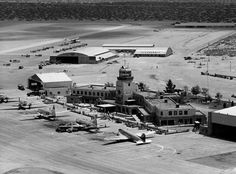 EL PASO INTERNATIONAL AIRPORT IN THE 1950s The terminal was designed by the firm Frazer & Benner and built in 1939-42 in the Pueblo Style of architecture. This replaced the city's first airport, which had been established in 1928 to the east of the present site.