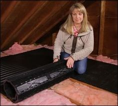 Awesome roll-out flooring for making the attic usable! Just roll out and screw down.