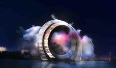 Gigantesco generador eólico para Róterdam. Un consorcio de empresas holandesas va a construir un innovador generador eólico, que servirá también como atracción turística para la ciudad de Róterdam. La estructura alcanza una altura de 174 metros, y está formada por dos anillos, uno de ellos con cabinas que se desplazan por unos carriles, y el otro con apartamentos y hotel, dejando la parte central para un aerogenerador EWICON.  #Arquitectura, #Energíasrenovables, #