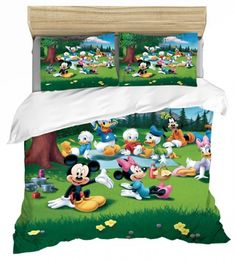 MICKEY MINNIE MOUSE FULL SIZE DUVET COVER WITH TWO PILLOW CASES 3 PC SET Mickey Minnie Mouse, Full Size Duvet Cover, Disney Bedding, Kids Bedding Sets, Kids Blankets, Throw Pillow Cases, Kid Beds, Kids Decor, Duvet Covers