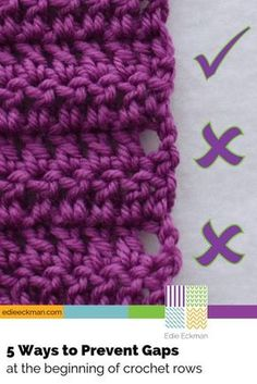 5 Ways to Prevent Gaps at Beginning of Crochet Rows - double crochet & treble crochet - look for video elsewhere on this board - she doesn't give all 5 methods in video (too bad) just dc and treble crochet There's more than one way to prevent those ugly g Stitch Crochet, Knit Or Crochet, Crochet Crafts, Free Crochet, Crochet Ideas, Crochet Tutorials, Diy Crafts, Crochet Feather, Chevron Crochet