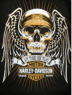 Angel skull Harley shirt - buy online at: http://www.planetharley.com/Harley-Davidson-Mens-Angel-Skull-T-shirt-p/80b1802.htm
