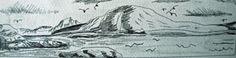 Sketch for Loch Torridon, graphite pencil,