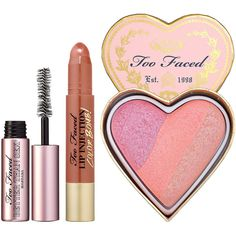 Too Faced Plump, Gloss and Glow ($42) ❤ liked on Polyvore featuring beauty products, makeup, too faced cosmetics, gloss makeup and polished makeup
