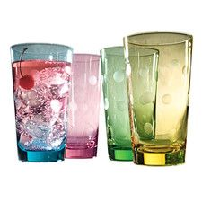 Polka Dot 20 Oz. Highball Glass