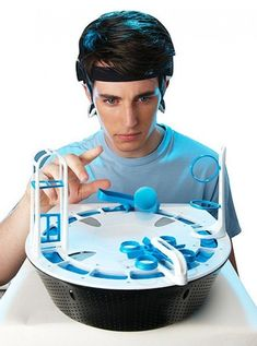 $60.00 | Mindflex Game. Mindflex–featuring a headset that reads your brain waves and a levitating foam ball–is the kind of game that must be seen to be believed. | FuturisticSHOP.com