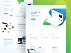 Hey guys,  I decided to share with you a landing page for Works, which I was working on during vacation in the summer. Unfortunately this project was cancelled.  Check the attachment for more versi...