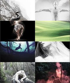 """The Valar  [genderbent]      Nessa 1/2:      """"His [Tulkas] spouse is Nessa, the sister of Oromë, and she also is lithe and fleetfooted. Deer she loves, and they follow her train whenever she goes in the wild; but she can outrun them, swift as an arrow with the wind in her hair."""""""