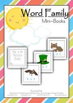 Word Families - Mini-Books {FREE} - Lavinia Pop - TeachersPayTeachers.com