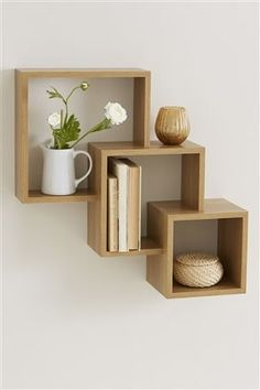 Stanton® Cube Wall Shelf, Next Home. Cube Wall Shelf, Wall Cubes, Wall Shelves, Fake Walls, Decoration, Living Room Furniture, Home Accessories, Wall Decor, Wall Art